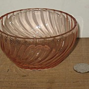 Pink Depression Swirl Bowl