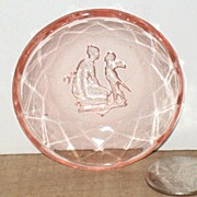 Pink Depression Salt With Diamond Optic, Lady and Cupid
