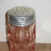 Pink Depression Windsor Diamond By Jeannette Glass Salt Shaker