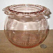 Pink Depression Old Colony or Lace Edge Cookie Jar.