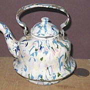 End of Day Confetti Tea Kettle Graniteware Miniature