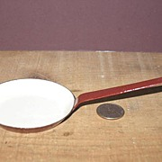 Miniature Graniteware Child's Fry Pan