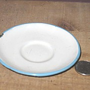 Miniature Graniteware Child's Saucer