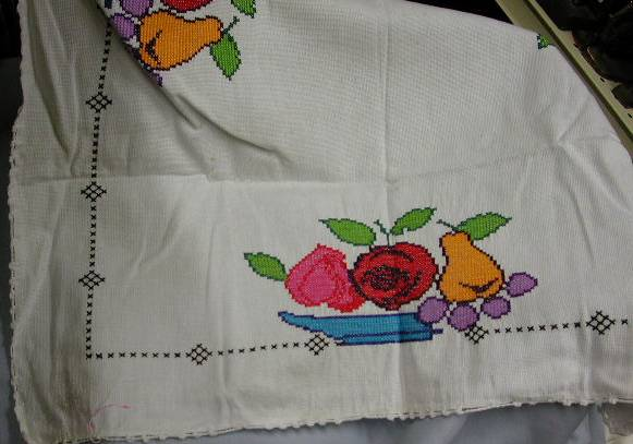 Cross stitch Hop-sacking Lunch cloth
