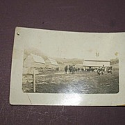 REDUCED Real Photo Postcard Of Farm Scene