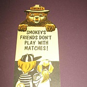 "REDUCED 1970's ""Smokey the Bear"" Book Mark and 5"" Ruler"