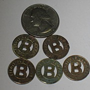 REDUCED 3 Beloit Bus Company Tokens