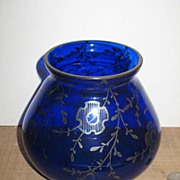 REDUCED Victorian Cobalt Vase