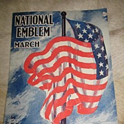 REDUCED 1927 Sheet Music of The National Emblem March