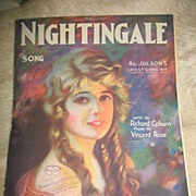 "REDUCED 1920 Sheet Music ""Nightingale'"