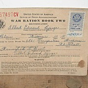 REDUCED 1942 War Ration Book Whitehall Wisconsin