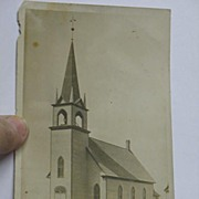 REDUCED Real Photo Post Card Lutheran Church Hannaford ND