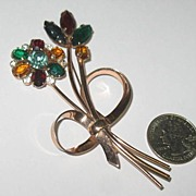 REDUCED Marked Coro Sterling Vermeil Pin
