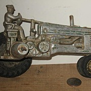 REDUCED 1940's Cast Aluminum John Deere Tractor with a Rider
