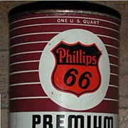 Phillips 66 Premium Motor Oil Can