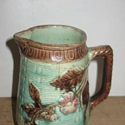 REDUCED Majolica Pottery Pitcher