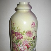 REDUCED Austrian Ceramic Marked KPM Tall Bottle Shaped Vase