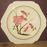 "REDUCED 8"" Red Wing Plum Blossom Plate"