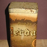 REDUCED Berdan Cigar Tin Factory #40 First District Michigan