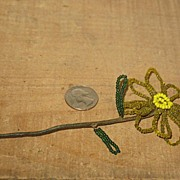 REDUCED Victorian Hand Beaded Daisy