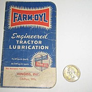 REDUCED 1950 Farm-Oyl Pocket Note Book
