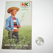 REDUCED 1966 Northrup King Seeds Pocket Note Book.