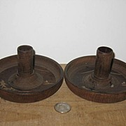 REDUCED 2 Slightly Different Made in Japan Wooden Candle Holders