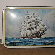 REDUCED Benson's Assorted Candies Tin with Sailing Ship on Cover