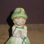 REDUCED Enesco Porcelian October Doll with Lamb