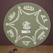 REDUCED Wonderful Green Jasperware Wedgewood Plate