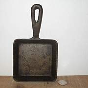 Small Square Cast Iron Frying Pan.