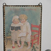 Vintage Framed Christmas Postcard