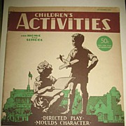 November 1940 Children's Activities for Home and School Magazine