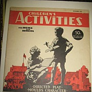 December 1940 Children's Activities For Home and School Magazine