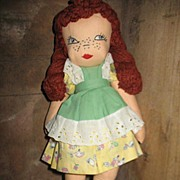 1939 Hand Made Cloth Doll