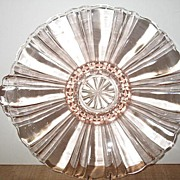 "Hocking Glass Pink ""Old Cafe"" Low Candy Dish"