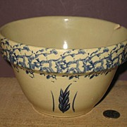 "RRP Stoneware Wheat Pattern 7"" Mixing Bowl."