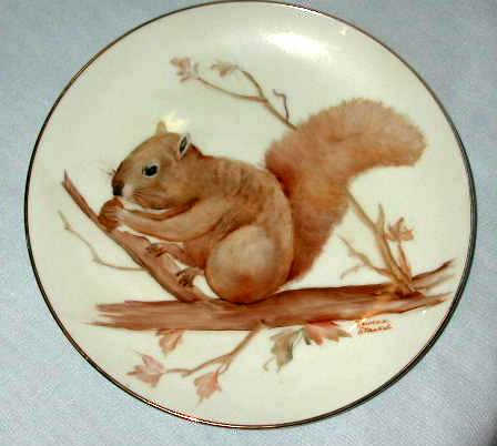 Hand Painted Squirrel Plate