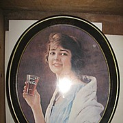 1973 Coca Cola Reproduction Tray of a 1923 Advertisement
