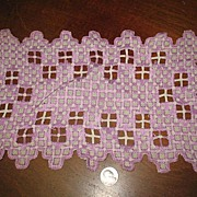 Lavender and White Hardanger Dollie.