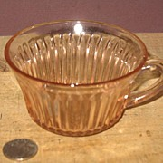 Pink Depression Glass Cup