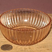 Pink Depression Queen Mary Individual Berry Bowl
