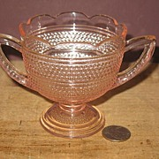 Pink Depression Sugar Bowl