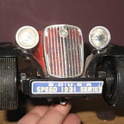 #17 1931 Tin Litho Battery Operated FBI Godfather Car Roadster