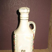 Czechoslovakia Lustered Oil Cruet