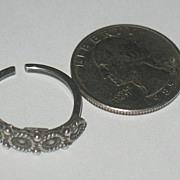Marked Norwegian Sterling Silver Ring