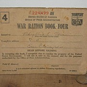 Partially Used War Ration Book 4