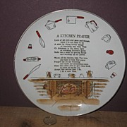 Unmarked Kitchen Prayer Wall Plate
