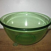 Hazel Atlas Green Depression mixing Bowl