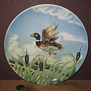 Vintage Napco Japan Hand Painted Mallard Wall Plaque